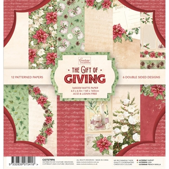 Couture Creations THE GIFT OF GIVING 6.5 x 6.5 Paper Pad co727896