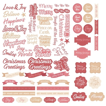 Couture Creations THE GIFT OF GIVING Die Cut Sentiments co727908