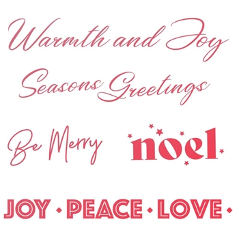 Couture Creations WARMTH AND JOY SENTIMENT Clear Stamp Set co727923