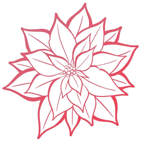 Couture Creations POINSETTIA BLOOM Mini Clear Stamp Set co727925 Preview Image