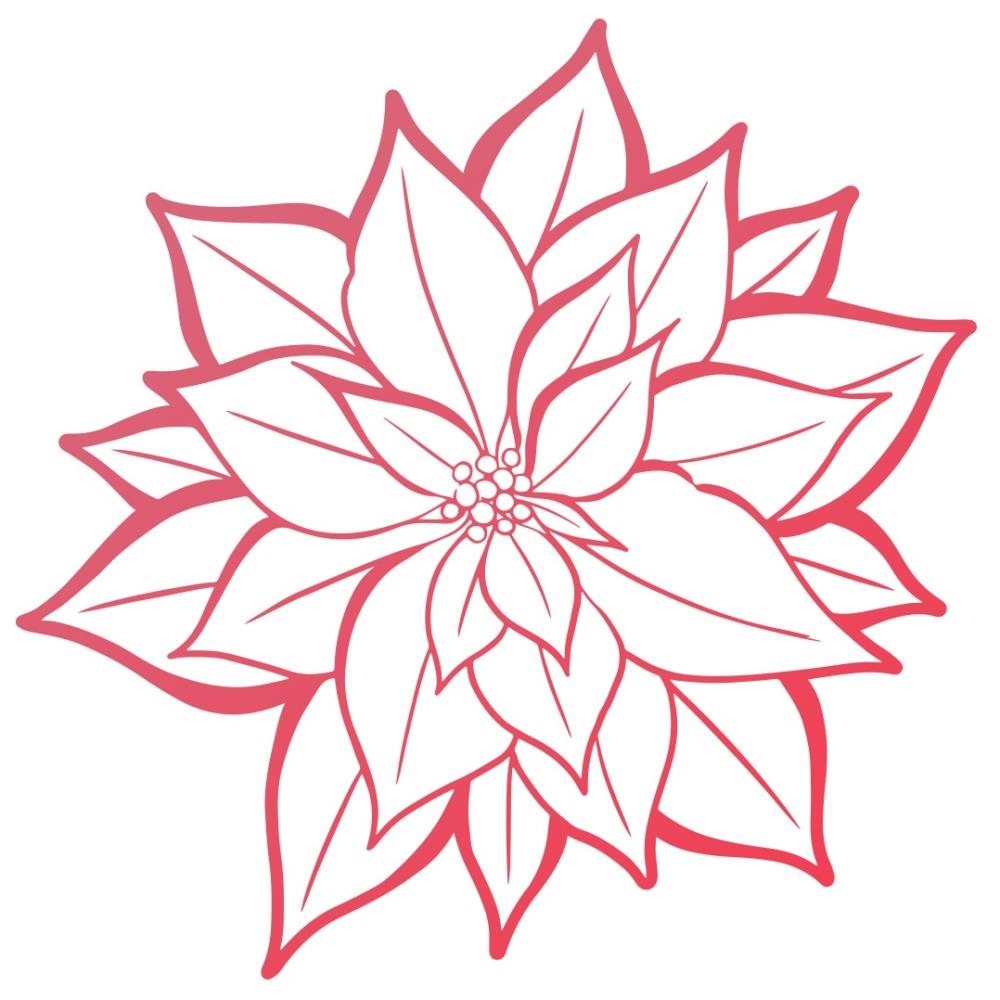 Couture Creations POINSETTIA BLOOM Mini Clear Stamp Set co727925 zoom image