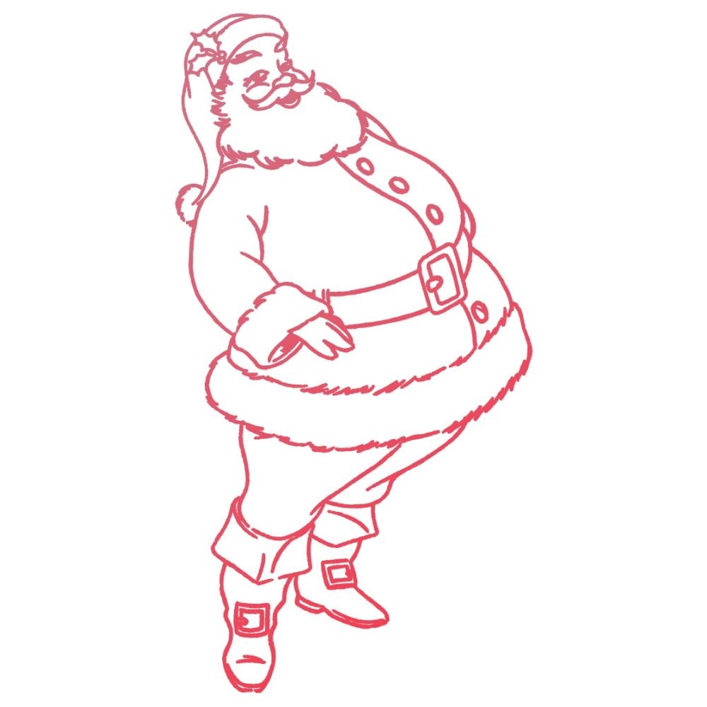 Couture Creations SANTA Mini Clear Stamp Set co727926 zoom image