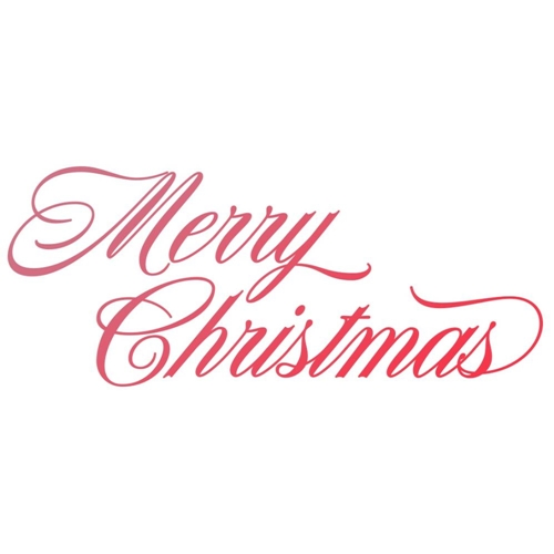 Couture Creations MERRY CHRISTMAS Mini Clear Stamp Set co727934 Preview Image