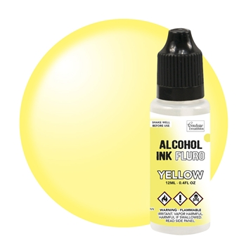 Couture Creations FLURO YELLOW Alcohol Ink Fluorescent co727951