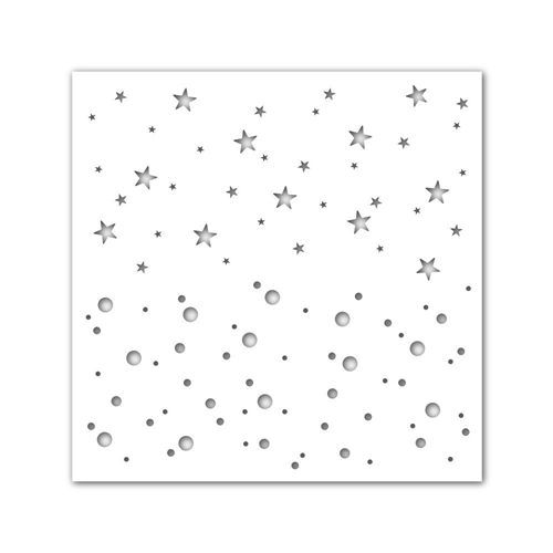 Simon Says Stamp Stencil RANDOM DOTS AND STARS ssst121509 Preview Image