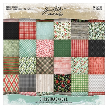Tim Holtz Idea-ology Mini Paper Stash CHRISTMAS th94085