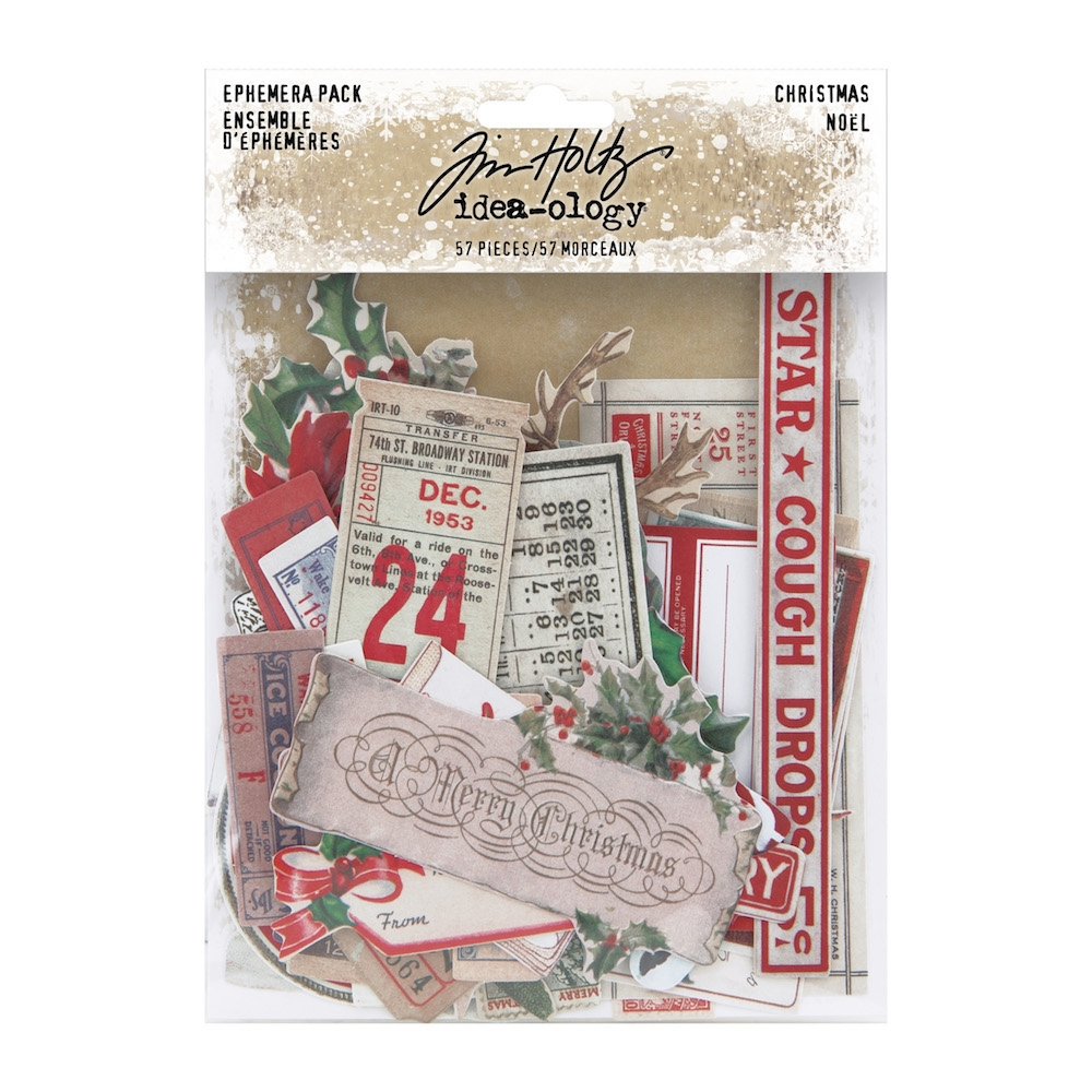 Tim Holtz Idea-ology CHRISTMAS Ephemera th94086 zoom image