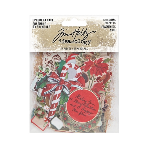 Tim Holtz Idea-ology CHRISTMAS SNIPPETS Ephemera th94087 Preview Image