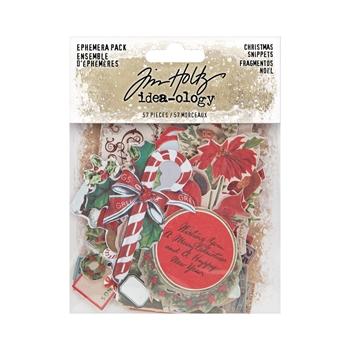 Tim Holtz Idea-ology CHRISTMAS SNIPPETS Ephemera th94087*