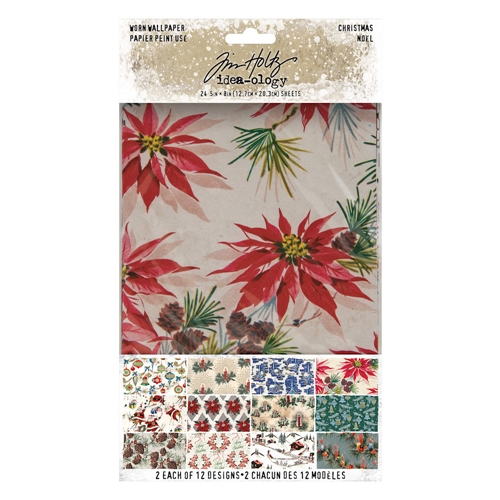 Tim Holtz Idea-ology CHRISTMAS Worn Wallpaper th94088* Preview Image