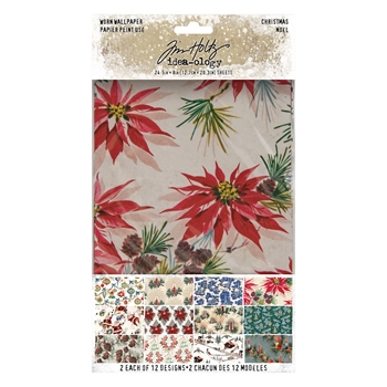 Tim Holtz Idea-ology CHRISTMAS Worn Wallpaper th94088*