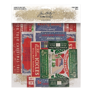 Tim Holtz Idea-ology CHRISTMAS VIGNETTE BOX TOPS th94089*