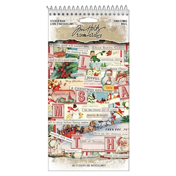 Tim Holtz Idea-ology CHRISTMAS Sticker Book th94091