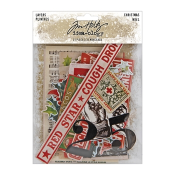 Tim Holtz Idea-ology CHRISTMAS LAYERS th94092*