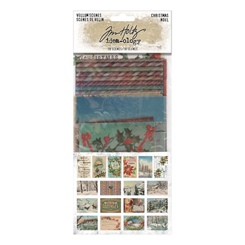 Tim Holtz Idea-ology CHRISTMAS VELLUM SCENES th94094