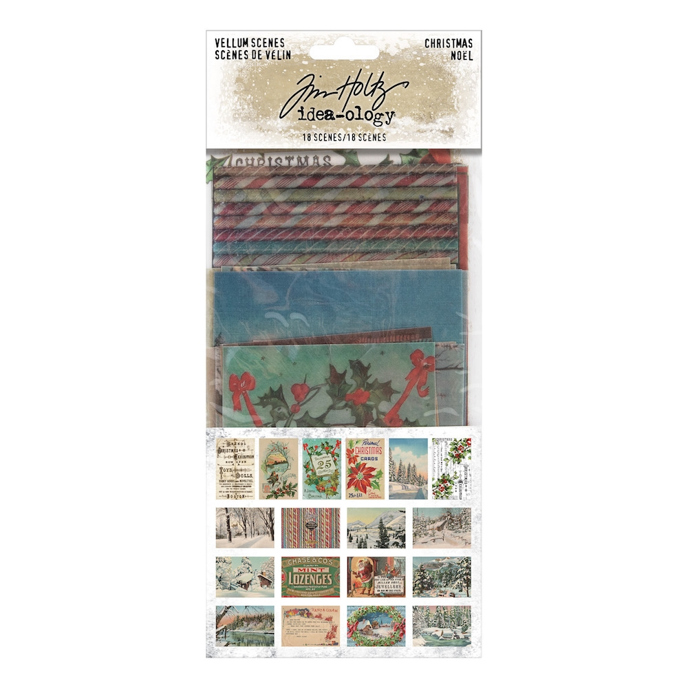 Tim Holtz Idea-ology CHRISTMAS VELLUM SCENES th94094 zoom image