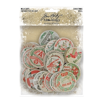 Tim Holtz Idea-ology CHRISTMAS MILK CAPS th94104