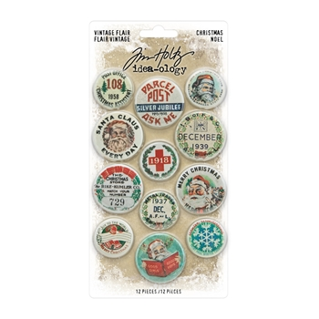 Tim Holtz Idea-ology CHRISTMAS FLAIR th94105*