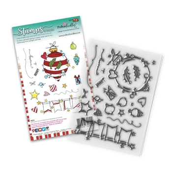 Polkadoodles BAUBLES AND BANNERS Clear Stamps pd8081