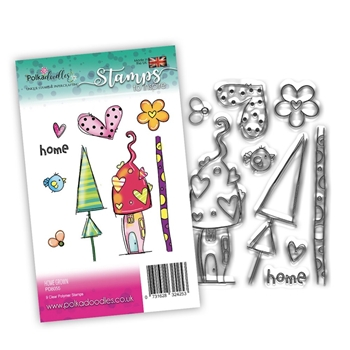 Polkadoodles HOME GROWN Clear Stamps pd8055*