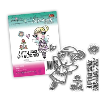 Polkadoodles WEIRDRE GRACE Clear Stamps pd8066*