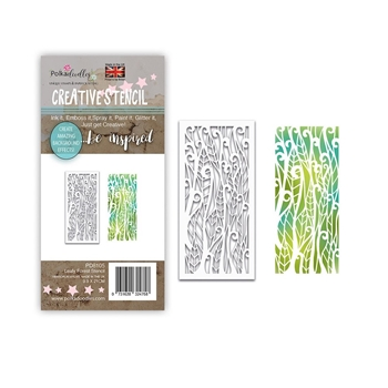 Polkadoodles LEAFY FOREST Stencil pd8105