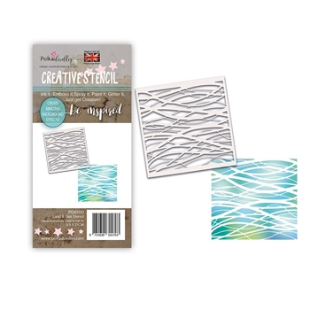 Polkadoodles LAND AND SEA Stencil pd8100