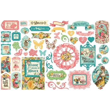 Graphic 45 EPHEMERA QUEEN Die Cut Assortment 4502109