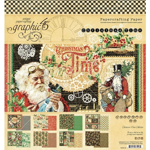 Graphic 45 CHRISTMAS TIME 8 x 8 Paper Pad 4502118 Preview Image