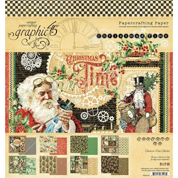 Graphic 45 CHRISTMAS TIME 8 x 8 Paper Pad 4502118