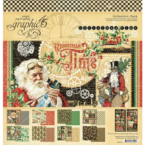 Graphic 45 CHRISTMAS TIME 12 x 12 Paper Pad 4502119 Preview Image