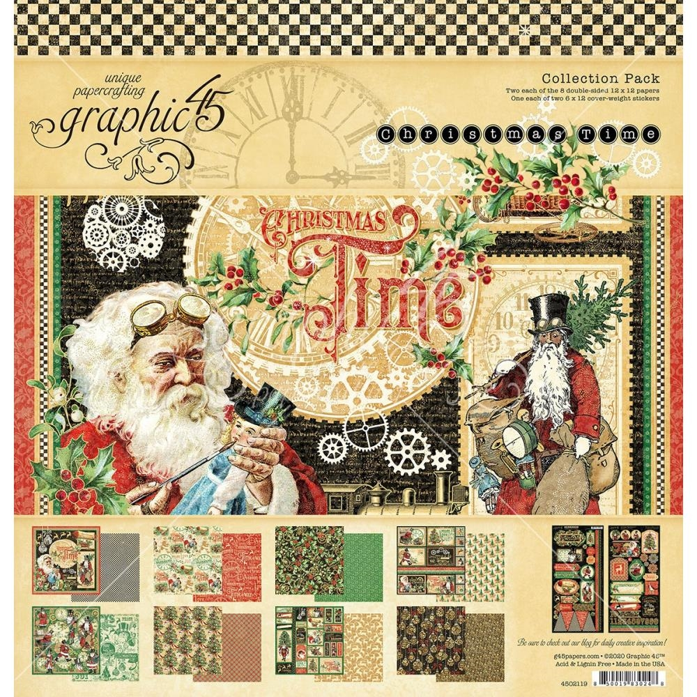 Graphic 45 CHRISTMAS TIME 12 x 12 Paper Pad 4502119 zoom image
