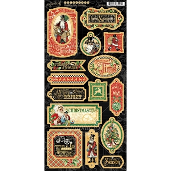 Graphic 45 CHRISTMAS TIME Chipboard 4502121