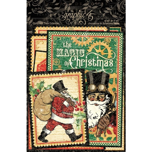Graphic 45 CHRISTMAS TIME Journaling And Ephemera Cards 4502123 Preview Image