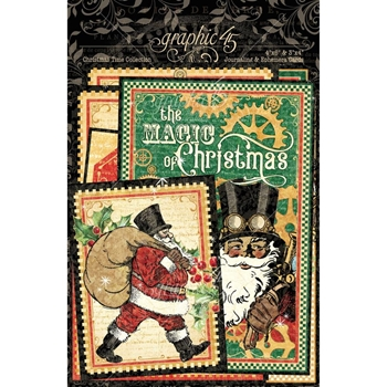 Graphic 45 CHRISTMAS TIME Journaling And Ephemera Cards 4502123