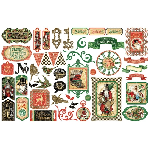 Graphic 45 CHRISTMAS TIME Die Cut Assortment 4502124 Preview Image