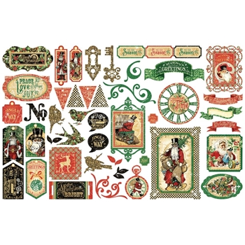 Graphic 45 CHRISTMAS TIME Die Cut Assortment 4502124