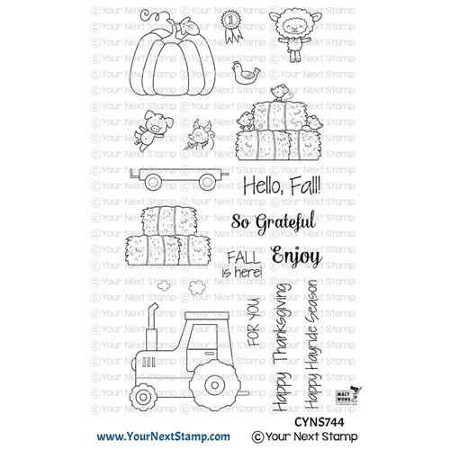 Your Next Stamp HAPPY HAYRIDES Clear cyns744 Preview Image