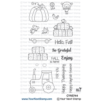 Your Next Stamp HAPPY HAYRIDES Clear cyns744