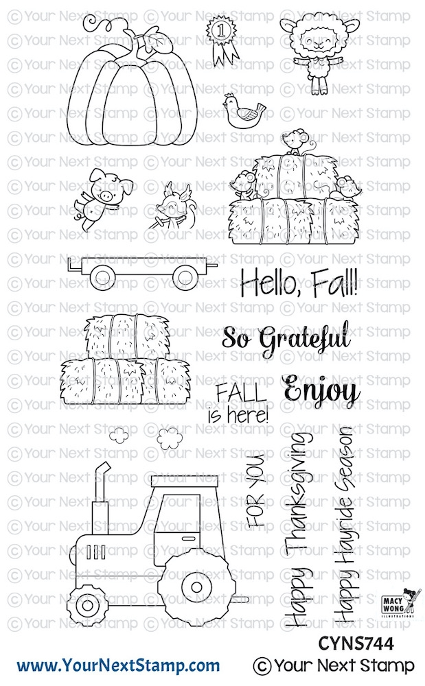 Your Next Stamp HAPPY HAYRIDES Clear cyns744 zoom image