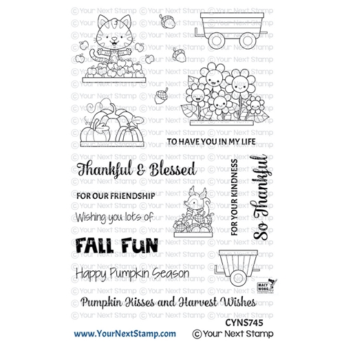 Your Next Stamp HAPPY HAYRIDES FALL FUN Clear cyns745 Preview Image