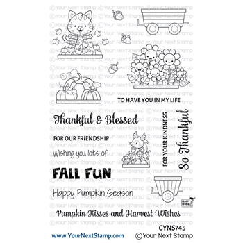 Your Next Stamp HAPPY HAYRIDES FALL FUN Clear cyns745