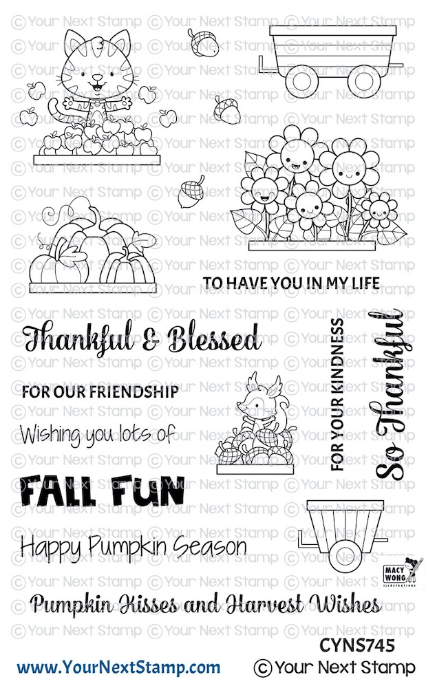 Your Next Stamp HAPPY HAYRIDES FALL FUN Clear cyns745 zoom image