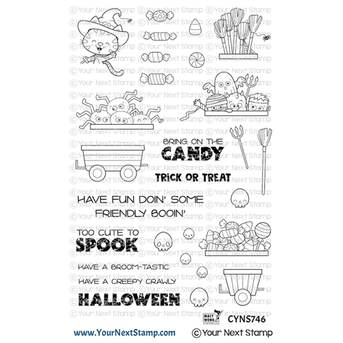 Your Next Stamp HAPPY HAYRIDES HALLOWEEN Clear cyns746 Preview Image