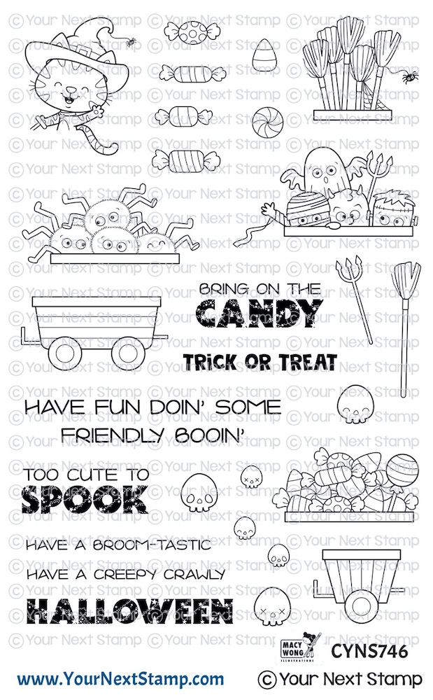 Your Next Stamp HAPPY HAYRIDES HALLOWEEN Clear cyns746 zoom image