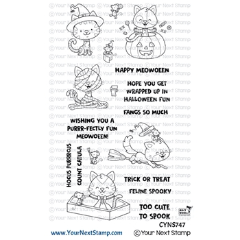 Your Next Stamp HAPPY MEOWOWEEN Clear cyns747
