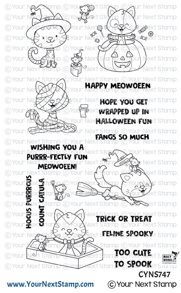 Your Next Stamp HAPPY MEOWOWEEN Clear cyns747 zoom image