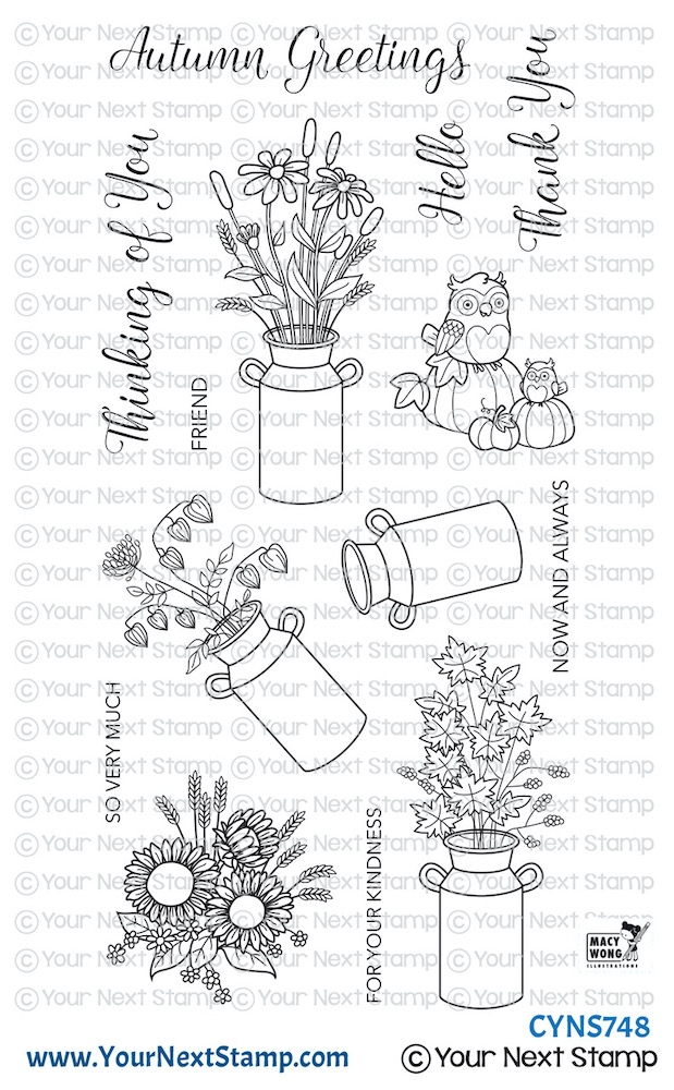 Your Next Stamp AUTUMN MILK CANS Clear cyns748 zoom image