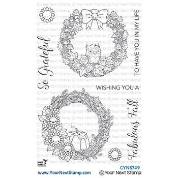 Your Next Stamp FABULOUS FALL WREATHS Clear cyns749