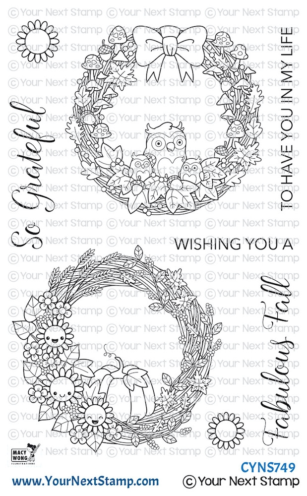 Your Next Stamp FABULOUS FALL WREATHS Clear cyns749 zoom image